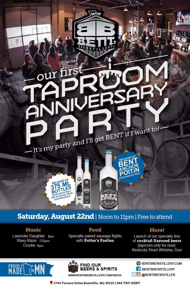 Bent Brewstillery 1st Taproom Anniversary Party!