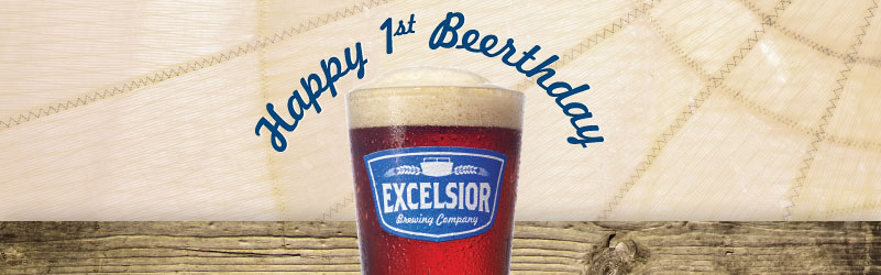 excelsior one year of beer