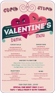 Valentine's Drink Menu