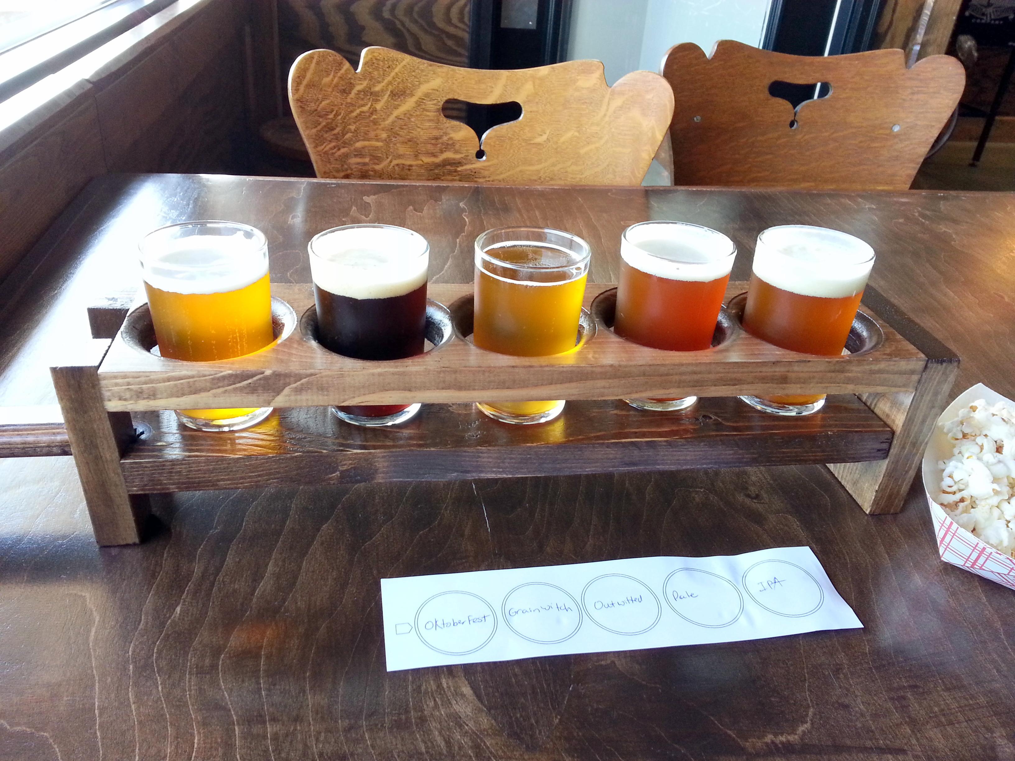 Pitchfork Brewing Company Flight