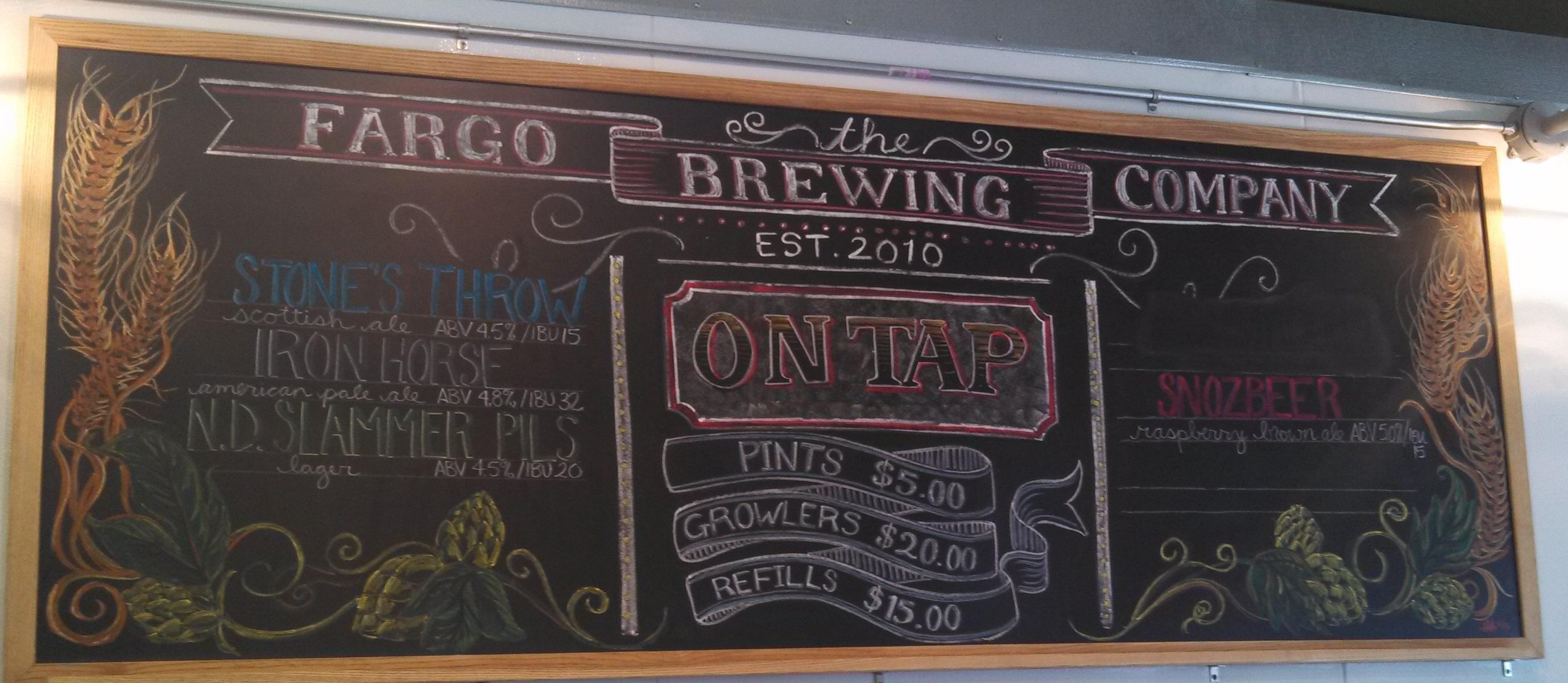 Fargo Brewing Chalkboard