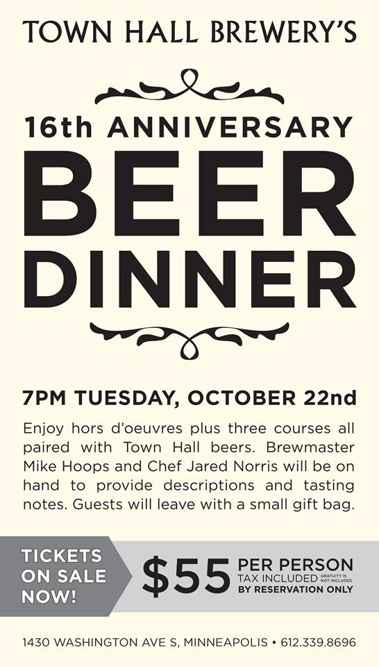 Town Hall Beer Dinner
