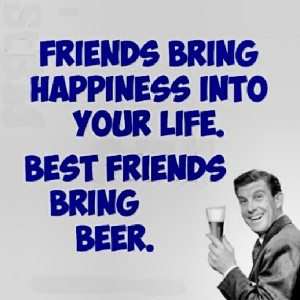 friends bring beer