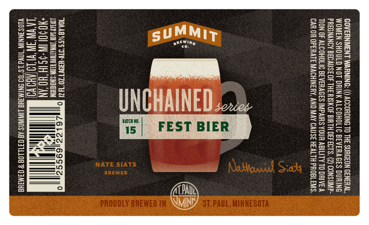 Summit Brewing Unchained 15 Fest Bier