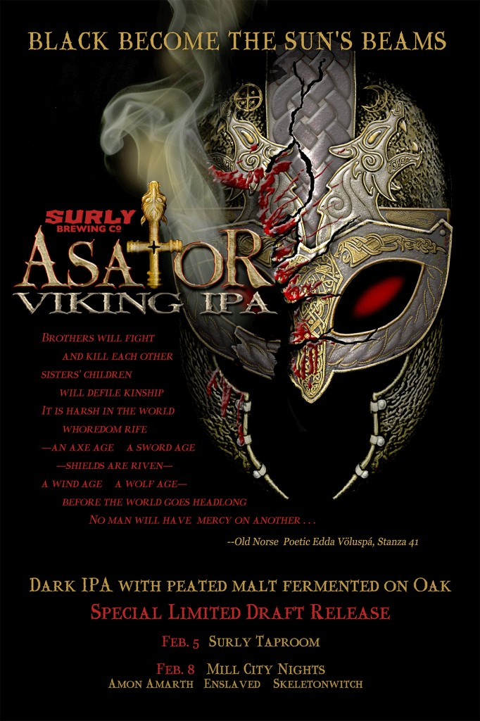 surly brewing Asator Smoked IPA on Oak