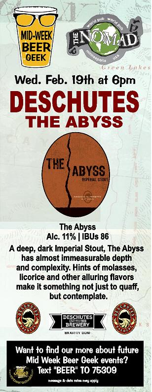 ABYSS MID WEEK BEER GEEK