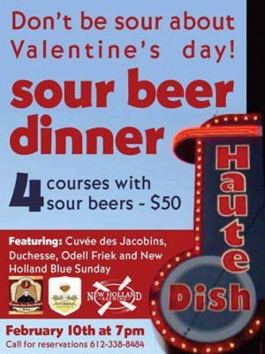 sour beer dinner at hautedish