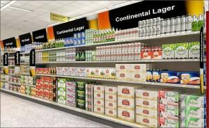 target beer aisle