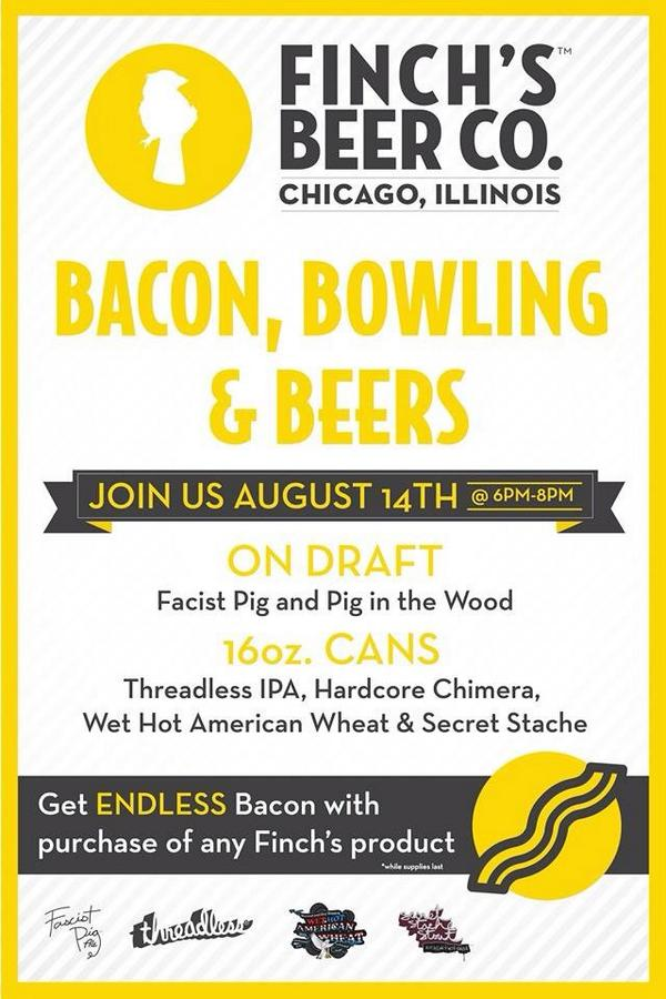 Finch Beer bacon and bowling