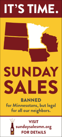 Legalize Sunday liquor sales in MN