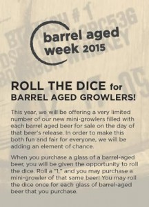 barrel aged dice roll