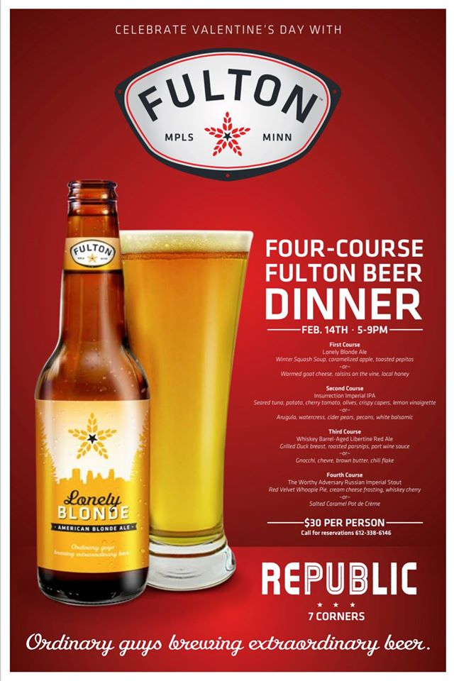 fulton beer dinner at republic