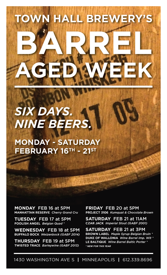 town hall barrel aged week