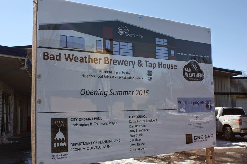 Bad weather brewery coming soon minnesota beer activists