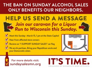 Sunday liquor sales run to Wisconsin