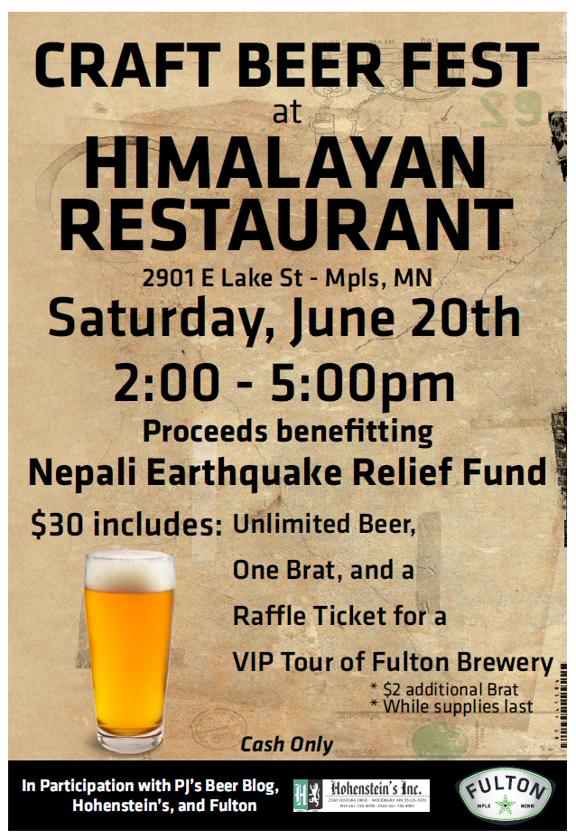 Nepali Earthquake Relief Fund-Craft Beer Fest