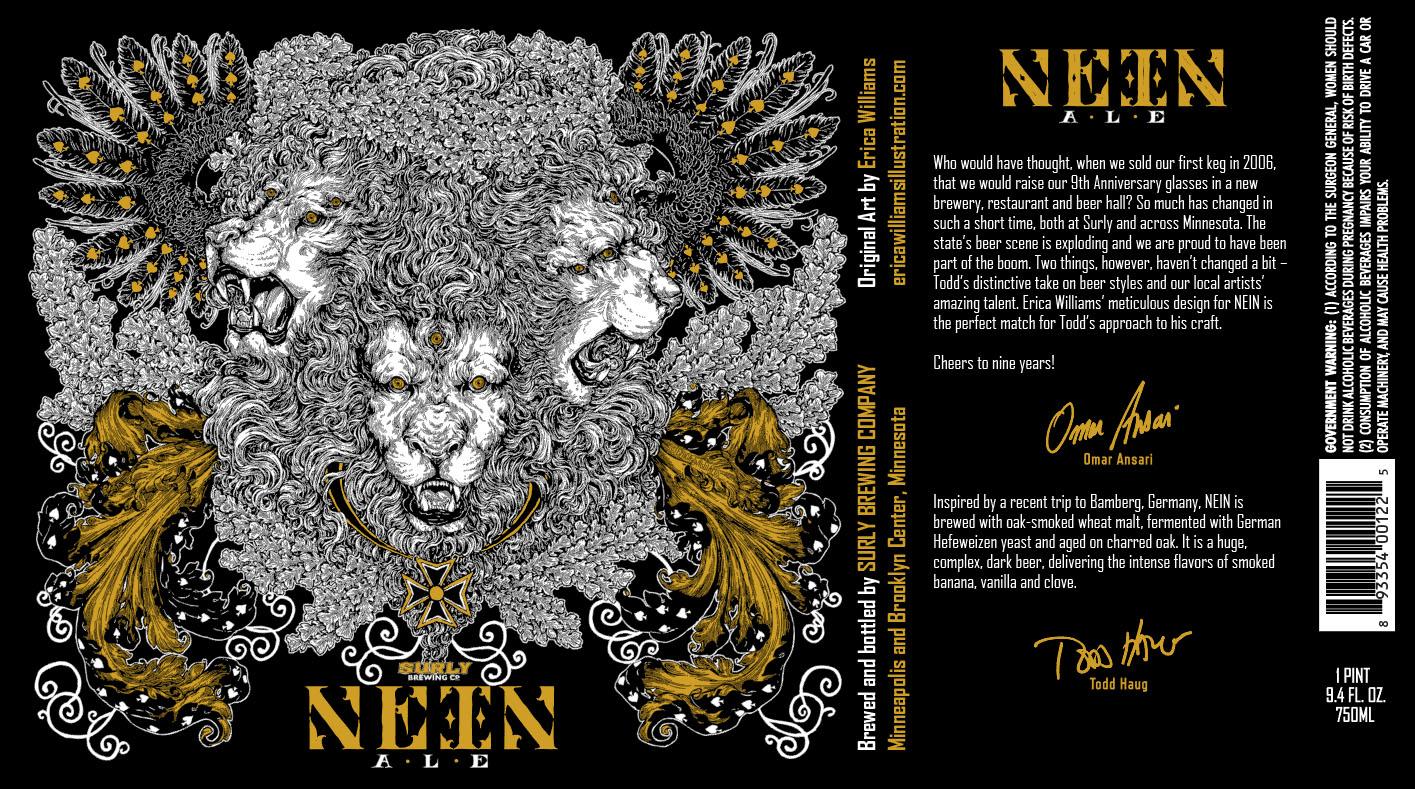 Surly Nein Anniverary Ale - Artist Erica Williams