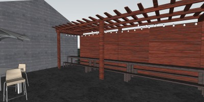 Trellised Patio Area