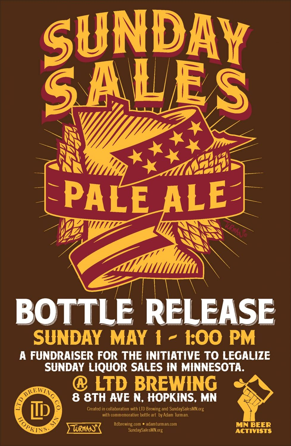 Sunday Sales Ale Poster