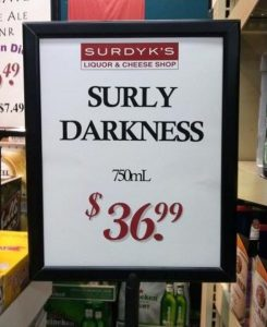 overpriced surly surdyks liquor