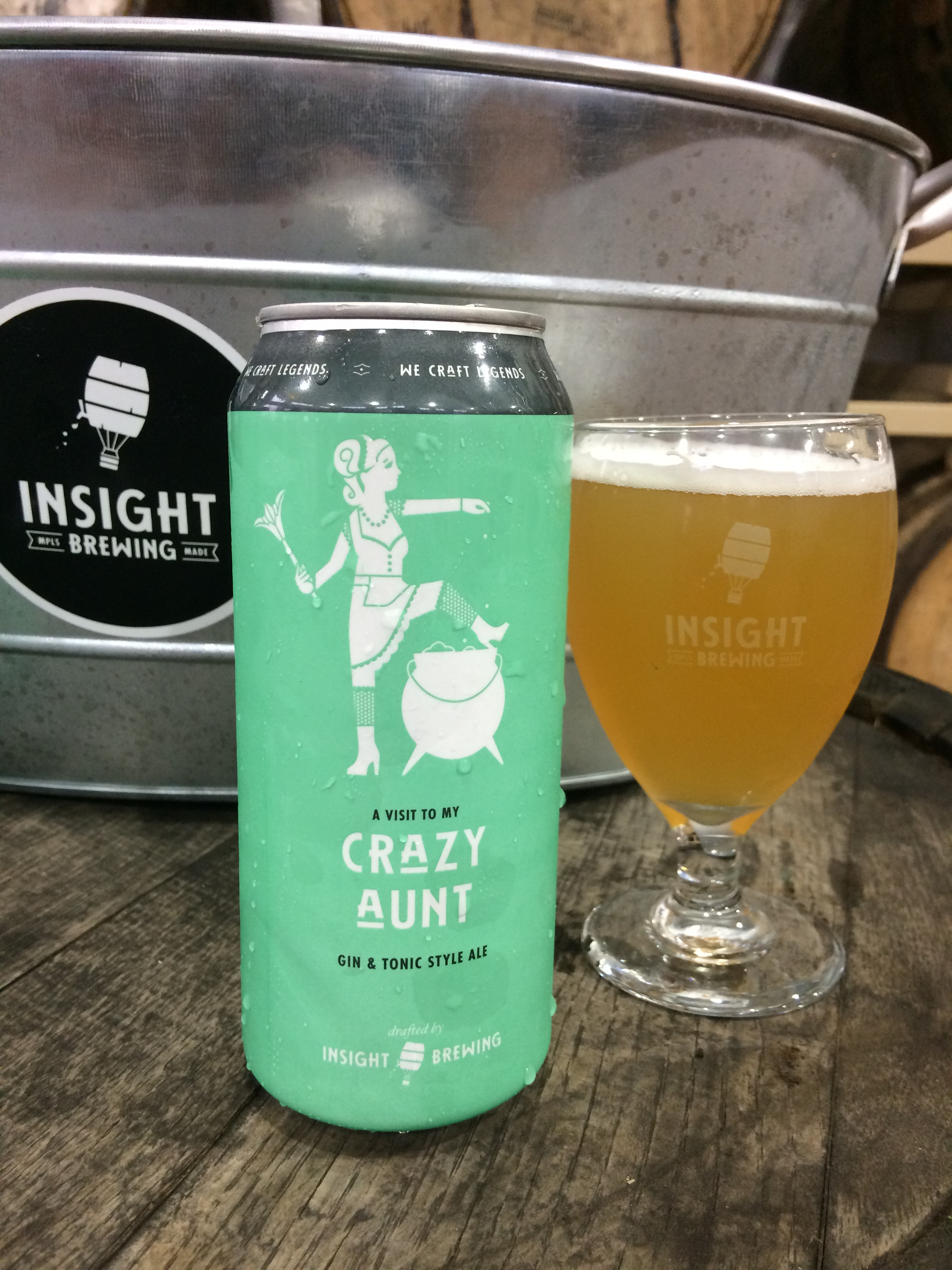 Crazy Aunt - Gin and Tonic Beer - Insight Brewing