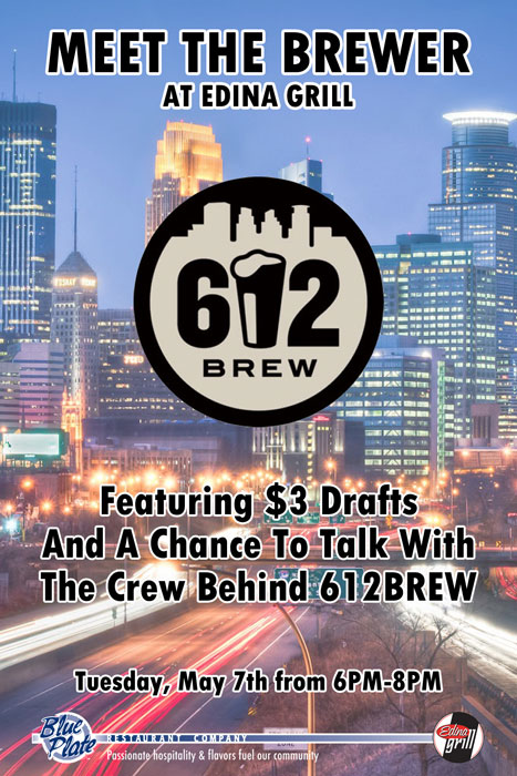 Meet the 612Brew Brewers at Edina Grill